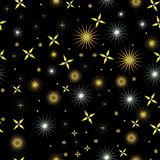 Cielo nocturno con las estrellas brillantes Ilustración del Vector