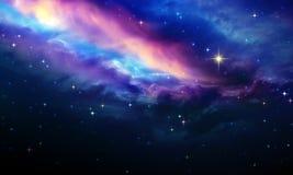 Cielo nocturno con las estrellas coloridas Fondo abstracto del cielo libre illustration