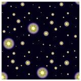 Cielo nocturno estrellado inconsútil Foto de archivo libre de regalías