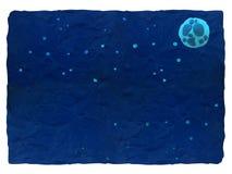 Cielo nocturno - fondo azul del plasticine con el espacio para el texto foto de archivo