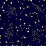 Cielo nocturno Fondo del universo ilustración del vector