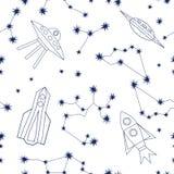 Cielo nocturno Fondo del universo stock de ilustración