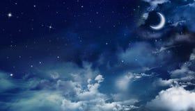 Cielo nocturno hermoso Foto de archivo