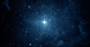 Cielo nocturno hermoso, estrella en el espacio Collage en el espacio, scienc imagenes de archivo