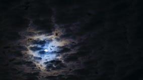 Cielo nocturno Luna Llena almacen de video