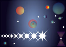 Cielo nocturno para el universo Imagen de archivo libre de regalías