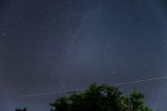 Cielo nocturno sobre Austria Fotografía de archivo libre de regalías