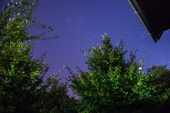 Cielo nocturno sobre Austria Imagen de archivo