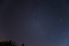 Cielo nocturno sobre Austria Imágenes de archivo libres de regalías