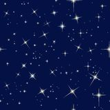 Cielo nocturno y estrellas stock de ilustración