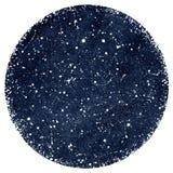 Cielo notturno blu scuro dell'acquerello con le stelle Fotografia Stock