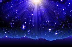 Cielo notturno con le stelle