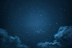 Cielo notturno con le stelle Immagini Stock Libere da Diritti