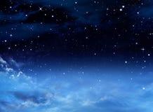 Cielo notturno con le stelle Fotografia Stock