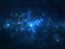 Cielo notturno con le stelle e la nebulosa Fotografia Stock