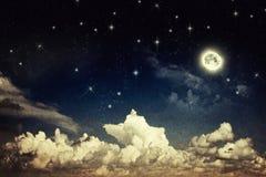 Cielo notturno d'annata Immagini Stock Libere da Diritti