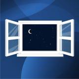 Cielo notturno dalla casa Immagini Stock
