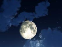 Cielo notturno della luna Fotografie Stock