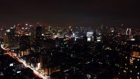 Cielo notturno di Bangkok Fotografie Stock Libere da Diritti