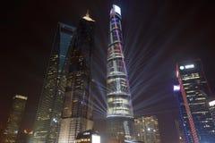 Cielo notturno di Pudong Fotografia Stock Libera da Diritti