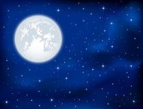 Cielo notturno e luna illustrazione vettoriale