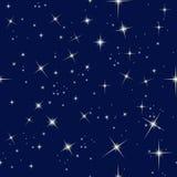 Cielo notturno e stelle illustrazione di stock