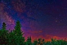 Cielo notturno latteo fotografie stock libere da diritti