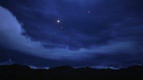 Cielo notturno riempito di stelle. Fotografia Stock Libera da Diritti