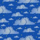 Cielo notturno senza cuciture del fondo Royalty Illustrazione gratis