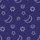 Cielo notturno senza giunte Immagine Stock Libera da Diritti