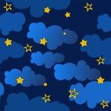 Cielo notturno senza giunte di struttura Immagini Stock Libere da Diritti