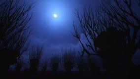 Cielo notturno su Halloween. Fotografie Stock