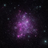 Cielo notturno - universo riempito di stelle Immagini Stock