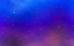 Cielo notturno variopinto con le stelle luminose Fotografia Stock