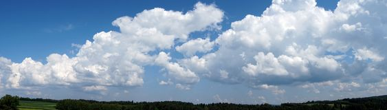 Cielo, nubes, panorama fotos de archivo