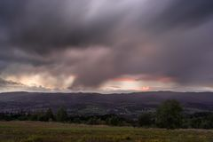 Cielo nublado fotos de archivo libres de regalías