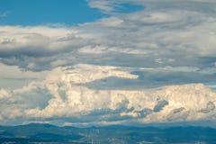 Cielo nublado adriático del paisaje dramático Imágenes de archivo libres de regalías