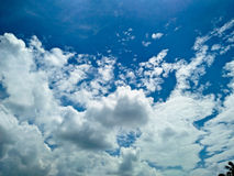 Cielo nublado asombroso foto de archivo libre de regalías