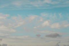 Cielo nublado colorido Imagen de archivo libre de regalías
