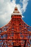 Cielo nublado de la cara de la torre de Tokio Fotografía de archivo libre de regalías