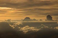 Cielo nublado de la puesta del sol Imágenes de archivo libres de regalías