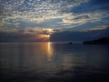 Cielo nublado de la puesta del sol Foto de archivo libre de regalías