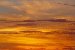 Cielo nublado de la puesta del sol Fotografía de archivo libre de regalías