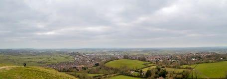 Cielo nublado de Somerset Landscape Fotografía de archivo libre de regalías