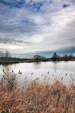 Cielo nublado del lago Grinava Foto de archivo libre de regalías