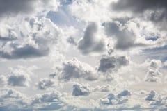 Cielo nublado hermoso Foto de archivo