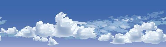 Cielo nublado inconsútil ilustración del vector