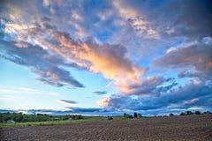 Cielo nublado sobre Kansas foto de archivo libre de regalías