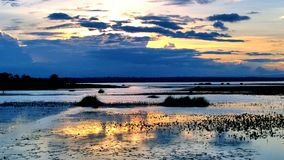 Cielo, nuvole, luce, bello blu in cielo di sera Fotografia Stock Libera da Diritti
