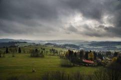 Cielo nuvoloso fotografie stock